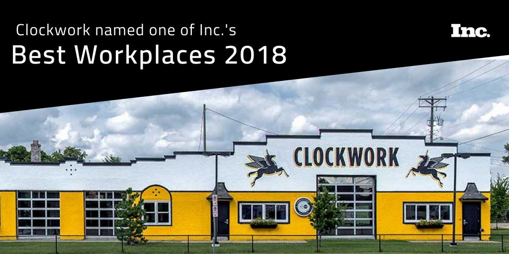 Image for Clockwork wins Inc. Magazine's Best Workplaces award