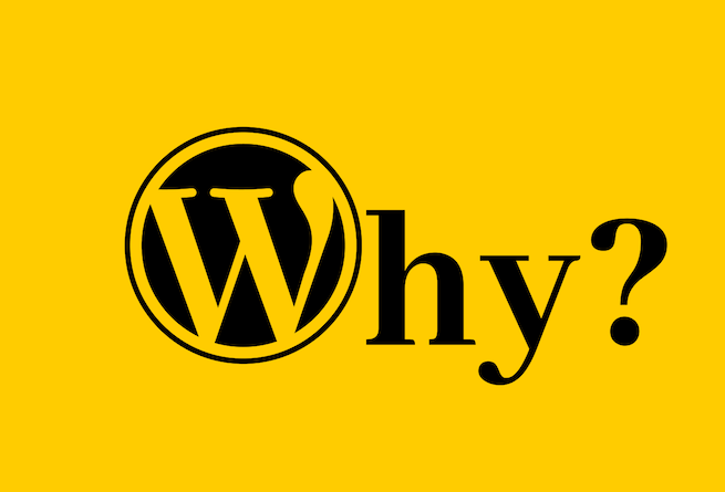 WordPress logo for Why Use WordPress blog post