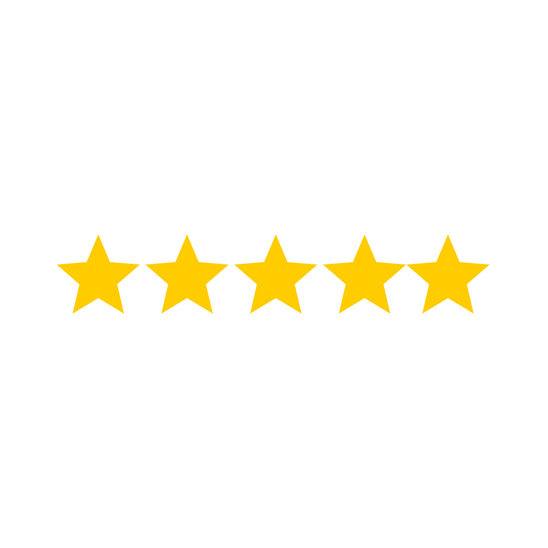 5 gold star app store rating