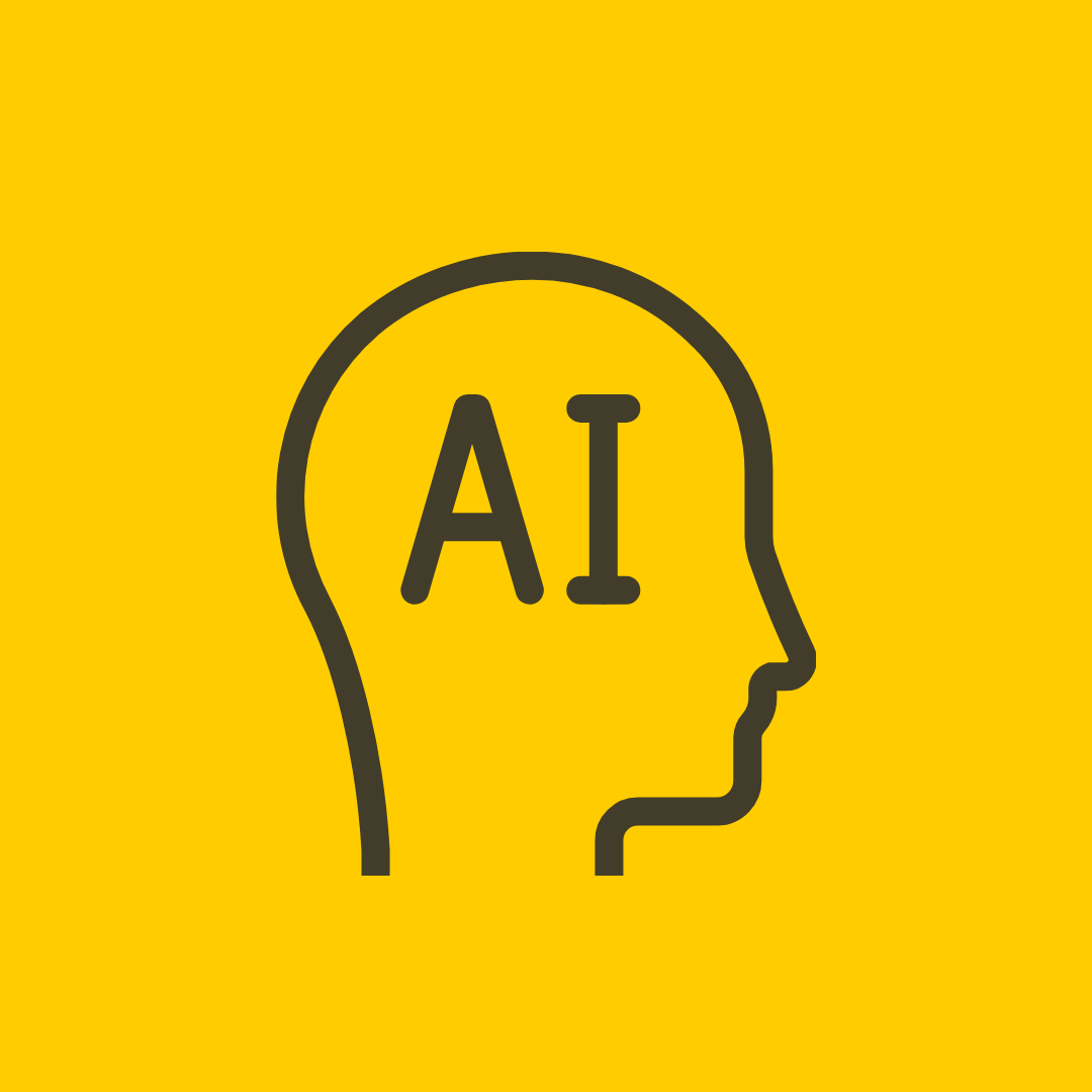 outline of a human head with AI written in the center. Does AI-driven content creation work?